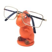 Arancio Dinosauro Occhiali Supporto Dipinto a Mano Natale Compleanno - $14.68