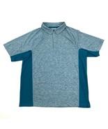 Nuovo Duluth Breezeshooter Polo Quarter Zip a Scatto T-Shirt da Uomo Blu... - $18.16