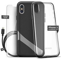 Encased LX45BK-KT iPhone X Essentials Accessory Bundle Kit, Black - $59.99