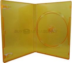 14mm Standard Clear Orange 1 Disc DVD Case - £9.37 GBP+