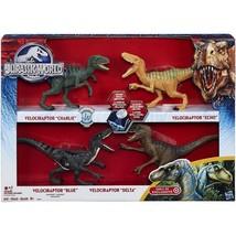 Jurassic World 2015 Toy Set Velociraptor Delta Dinosaur 4 Pack Exclusive - $189.99
