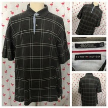 Tommy Hilfiger XL Gray Check Short Sleeve Polo A5064 - $21.28