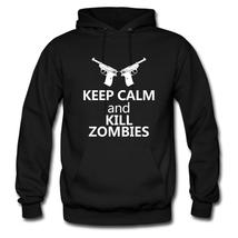 Keep Calm And Kill Zombies Balck Men's Hoodie - $49.00