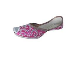 Women Shoes Mojari Leather Indian Handmade Ethnic FlipFlops Jutti US 5.5-8.5 - $39.99