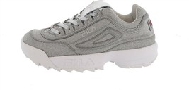 FILA Sparkle Platform Chunky Sneaker Disruptor Metallic Silver 9.5M NEW S9461 - $212.26 CAD