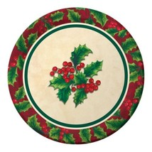 "Boughs of Holly 8 7"" Dessert Cake Plates Christmas Party - $3.99"