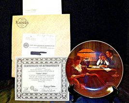 """1983 """"Father's Help"""" by Norman Rockwell Plate with Box ( Knowles ) AA20-CP2189 V image 3"""
