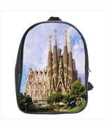 School bag 3 sizes bookbag sagrada familia barcelona souvenir - $39.00+