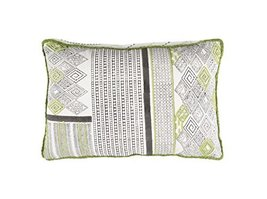 "Diva At Home 22"" Paper White and Apple Green Contemporary Decorative Thr... - $85.63"