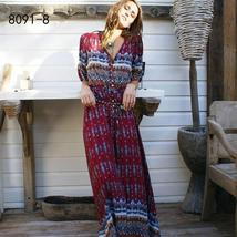 Women's New Boho Floral Print Long Maxi Beach Sundress image 13