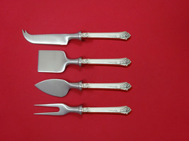 Damask Rose by Oneida Sterling Silver Cheese Serving Set 4 Piece HHWS  Custom - $247.10