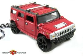 RARE NICE KEY CHAIN RED HUMMER H2 4X4 HUMVEE CUSTOM LIMITED EDITION NEW ... - $39.98