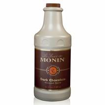 Monin - Gourmet Dark Chocolate Sauce Velvety and Rich Great for Desserts... - $25.40