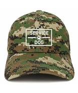 Trendy Apparel Shop Service Dog with Paw Embroidered Brushed Cotton Cap ... - $18.99