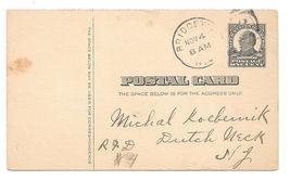UX20 McKinley Postal Card Bridgeton NJ 1908 Duplex Hog Pen Manure Ashes - $4.99