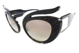 MIU MIU Women's Sunglasses MU04TS VW35O0 140 Black MADE IN ITALY - New! - $235.00