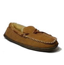 CLARKS men's size 9 Brown Indoor Outdoor Slippers Genuine Shearling Sock... - $77.55