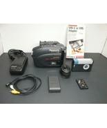 Panasonic Palmcorder IQ PV-D526 16X Optical Zoom VHS-C Camcorder Bundle - $50.00