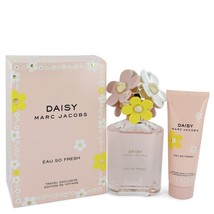 Marc Jacobs Daisy Eau So Fresh 4.2 Oz EDT Spray + 2.5 Oz Body lotion 2 Pcs Set image 1