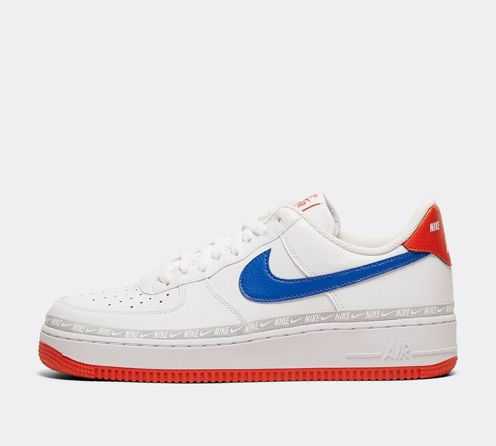 Nike Air Force 1 '07 LV8 Tape Trainer | White / Game Royal / Red Shoes