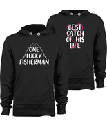 Valentine Gift Fisherman Hoodie Couple Pullover Hooded Sweatshirt Angler... - $43.95