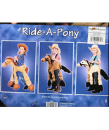 RIDE-A-Pony Halloween Costume Sz 5-7 Brown  Horse  NEW! - $24.99