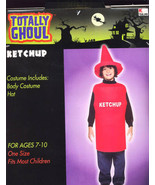 KETCHUP BOTTLE Halloween Costume Size 7-10  Brand New! - $14.95