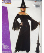 ELEGANT WITCH Halloween Costume ADULT Size 10-12  NEW! - $34.99