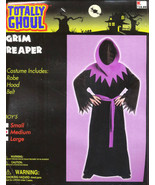 PURPLE  GRIM REAPER  Halloween Costume Size Medium New! - $12.00