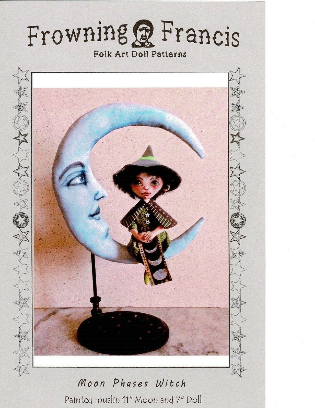 """Moon Phases Witch"" PDF Digital E-Pattern Download By Susan Barmore"