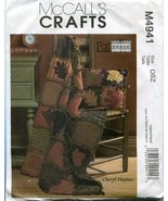 McCall's Crafts Pattern M4941 Fat Quarters Rustic Quilt and Pillow - $8.86