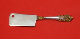Grande Baroque Gold Accents by Wallace Sterling Silver Cheese Cleaver Cu... - $99.00