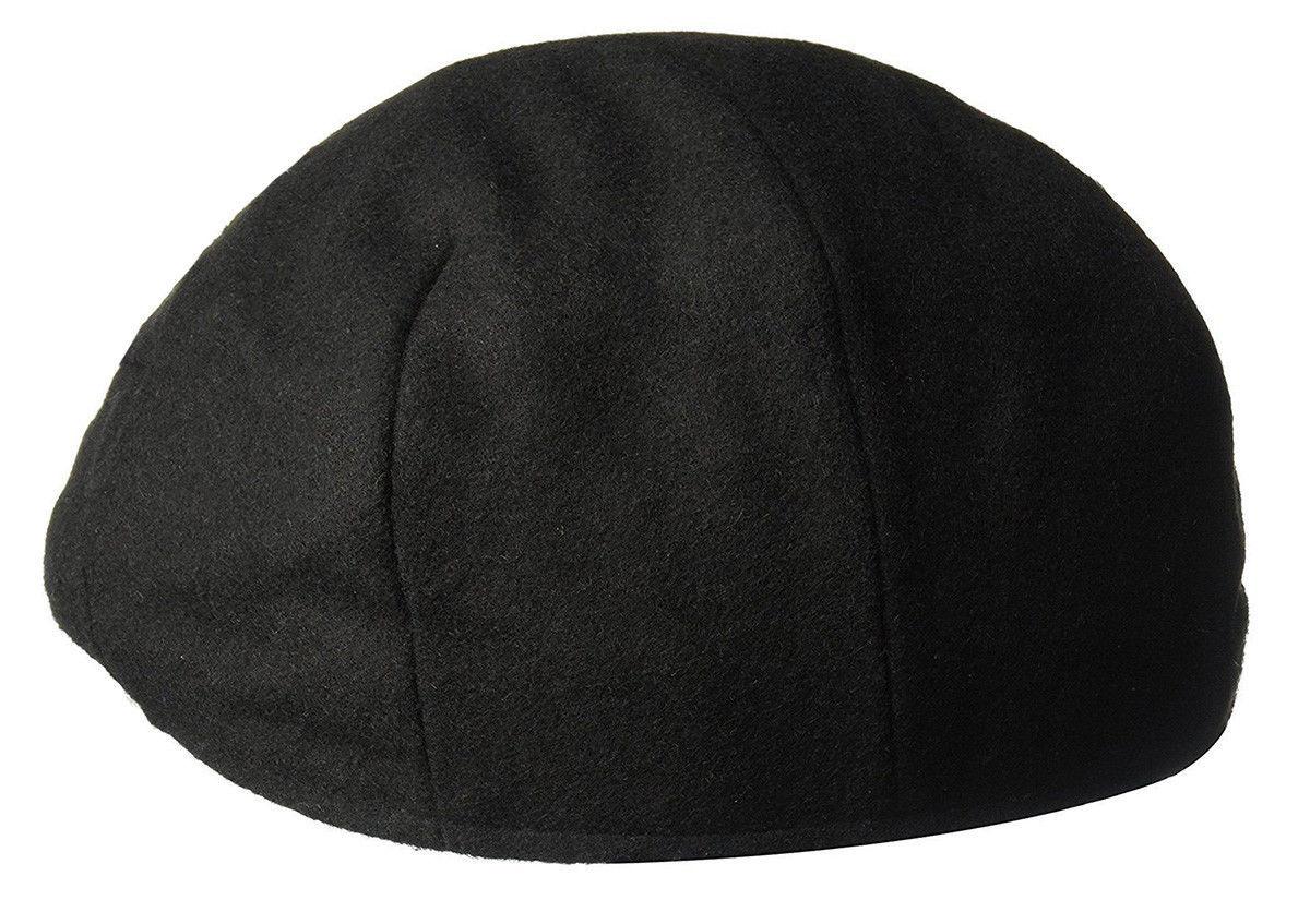 NEW MENS COUNTRY GENTLEMAN BLACK WOOL BLEND FLAT CAP HAT M