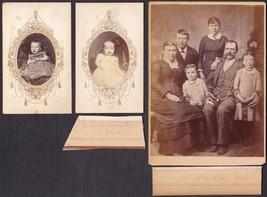 John William Gooder & Selina Bottomley Family Cabinet Photo - Wisconsin - $34.50