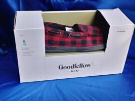 Goodfellow Size S 7/8 Men's Red Black Plaid Memory Foam Faux Fur Lining ... - $22.13 CAD
