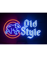 """Bear Old Style Chicago Cubs Bar Neon Light Sign 18"""" x 15"""" - $499.00"""