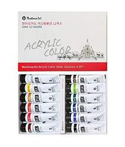 Montmar Art Acrylic Paint Painting 12 Colors 50ml Tubes Set (Set A)