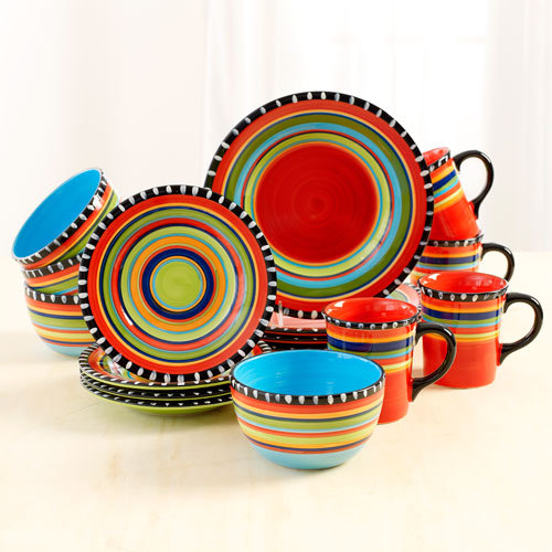 Fiesta Spring Pueblo 16 Piece Dinnerware Set And 28