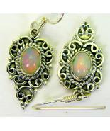 Ethiopian Blue Green with Pink Fire Gem Opal St... - $113.81