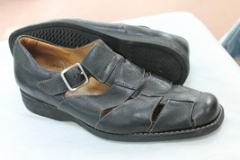 JOHNSTON & MURPHY  SIZE 9 M BROWN FLEXIBLE SOLES LEATHER MOC LOAFERS SHOES - $25.00