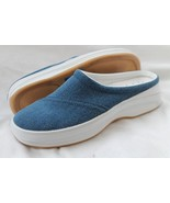 KEDS SIZE 8 1/2 M SOLANA DENIM CANVAS MULES SLIP ON SHOES SNEAKERS - $33.21 CAD