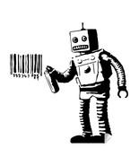 Banksy Robot Wall Decal Street Graffiti Art Barcode Mural Decor Sticker - $18.69 - $172.06