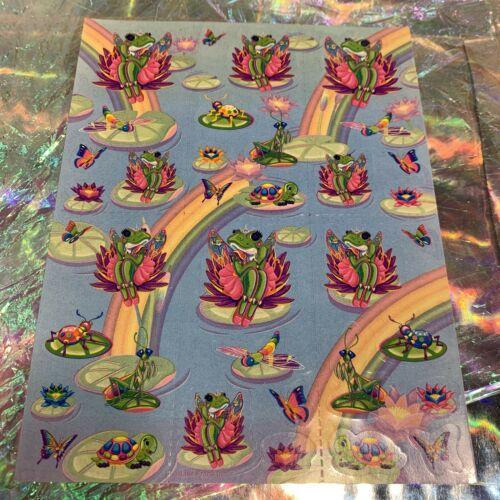 Vintage Lisa Frank Complete Sticker Sheet S377  Frog Princess  1daySHIP!