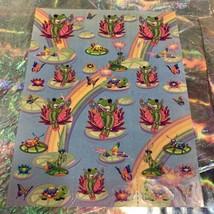 Vintage Lisa Frank Complete Sticker Sheet S377  Frog Princess  1daySHIP! image 1