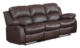 Homelegance Double Reclining Sofa, Brown Bonded Leather - $18.077,62 MXN