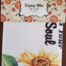 Kitchen Drying Mat, Sunflower Design, Let the Sunshine on Your Soul, Yellow image 5