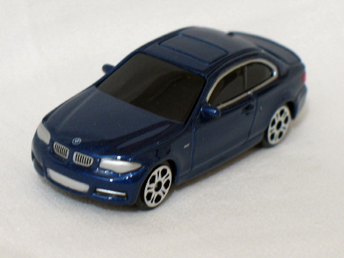 Primary image for BMW 1 series coupe blue dealer special 7.5cm die cast model car