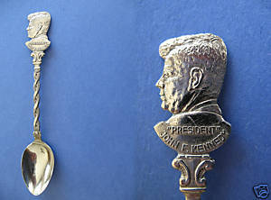 Primary image for President JOHN F. KENNEDY Souvenir Collector Spoon Collectible HISTORICAL JFK.
