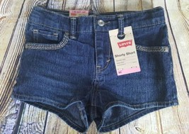 Levis Girls Shorty Short Jet Set Size 6 Reg Adjustable Waist Children 5-6 Years - $7.91