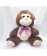 Monkey Plush Stuffed Animal w/ Glitter Eyes - $13.65